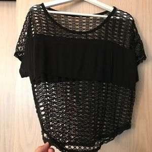 ASOS black netted top